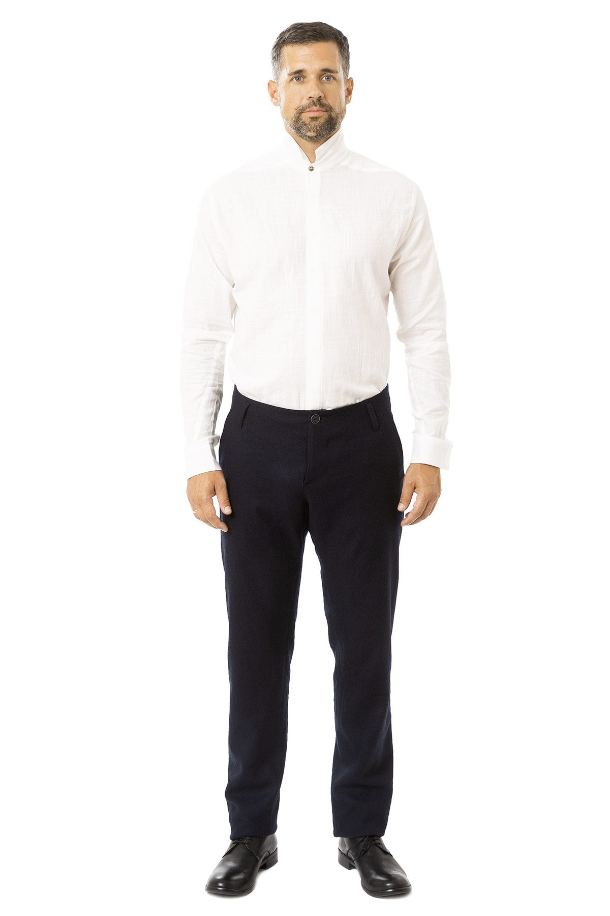 hannibal aw19 trousers hose hektor marine dunkelblau front