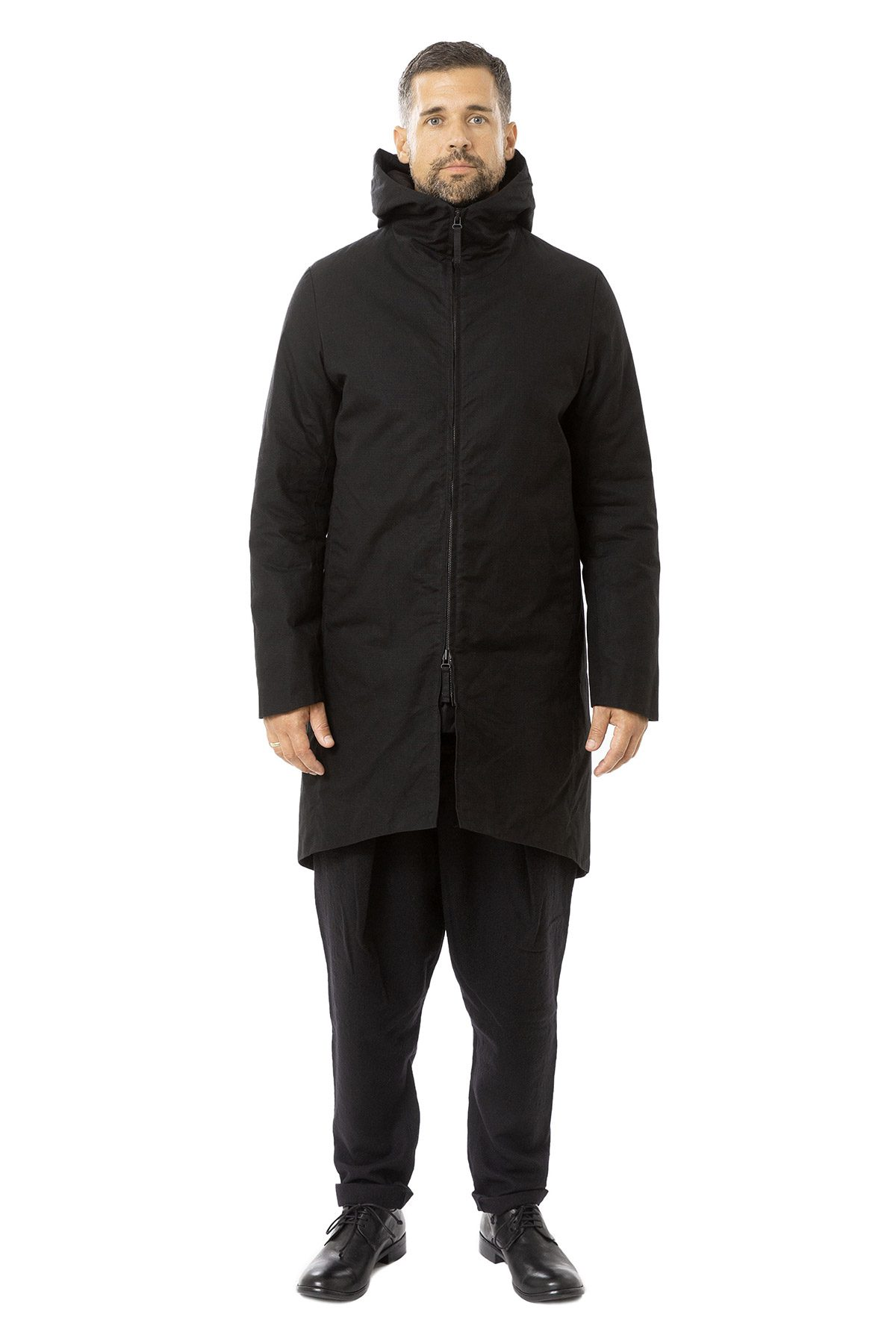 hannibal aw19 parka mantel rouven ink schwarz front