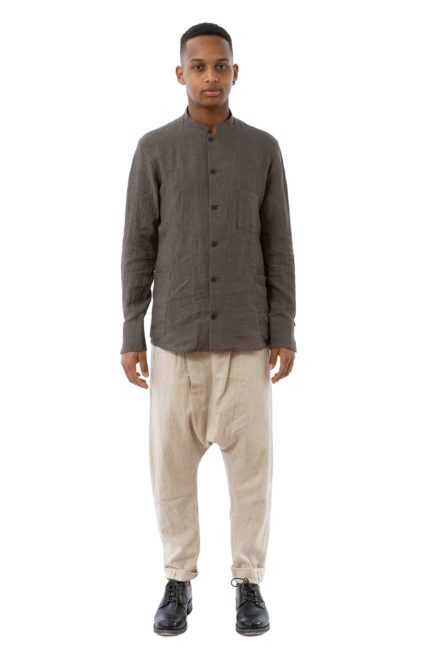 hannibal ss20 work shirt hemd pierce warm grey grau 01
